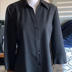 Grace Elements Button Blouse Shirt In Spandex
